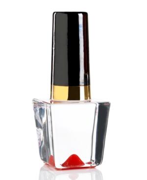 Kosta Boda Art Glass, Red Nail Polish Bottle