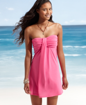 Hula Honey Cover Up, Strapless Dress Women's Swimsuit