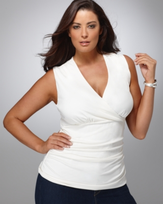 Alfani Plus Size Top, Surplice Shaper