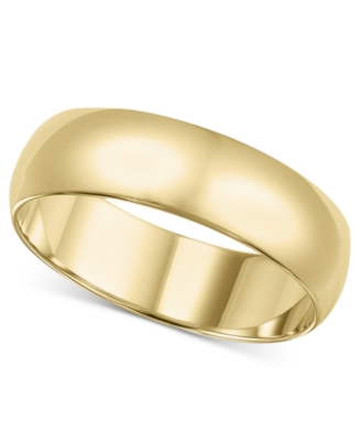 14k Gold Ring, 6 mm Band (Size 4-8)