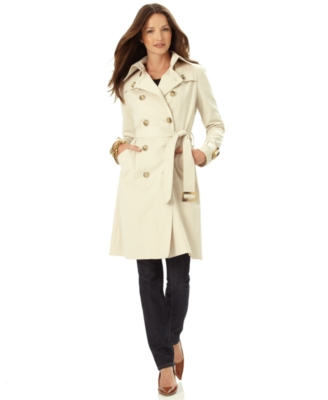 London Fog Petite Coat, Double Breasted Trenchcoat