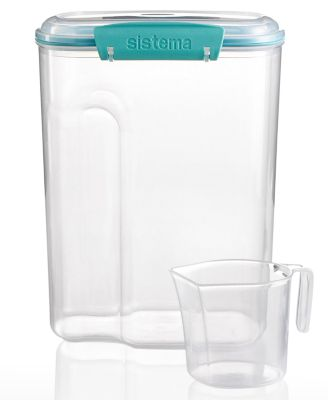 Martha Stewart Collection 110-Oz. Storage Container with 1-Cup Measuring Cup