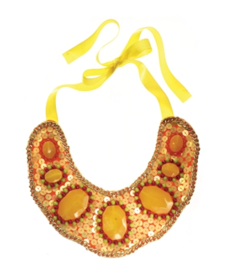 Lydell NYC Necklace, Yellow Ribbon