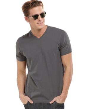 Alfani Shirt, Big and Tall Stretch V Neck