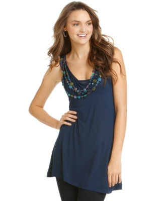 American Rag Top, Sleevless Necklace Tunic