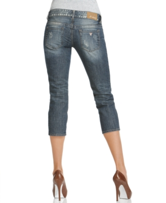 GUESS Jeans, Lillian Skinny Capri, Gold Rush Wash