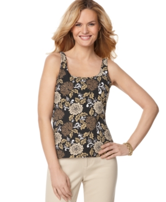 Karen Scott Tank Top, Pop Floral Print