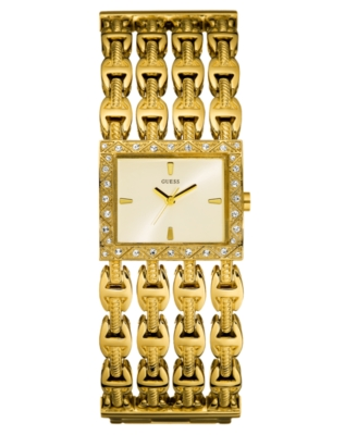 GUESS Watch, Women's Goldtone Mixed Metal Bracelet U12611L1
