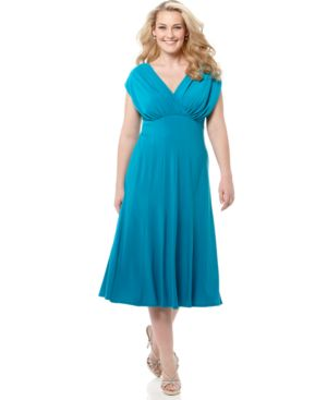 Jones New York Plus Size Dress, Empire Waist 40's Body - Jones New York