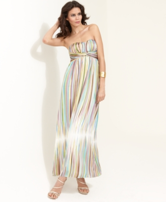 Jessica Simpson Dress, Strapless Striped Maxi
