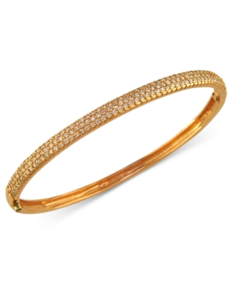 14k Rose Gold Bracelet, Pave Diamond Bangle (1-1/5 ct. t.w.)