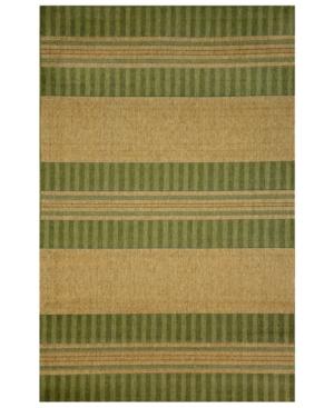 "Liora Manne Area Rug, Indoor/Outdoor Tropez Stripe Green 23""x7'6"""