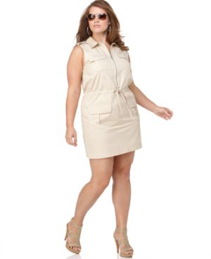 MICHAEL Michael Kors Plus Size Dress, Sleeveless with Pockets