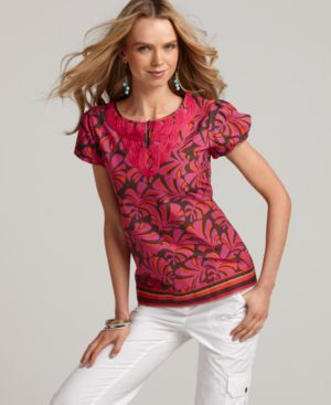 Tommy Hilfiger Top, Palace Leaf Soutache