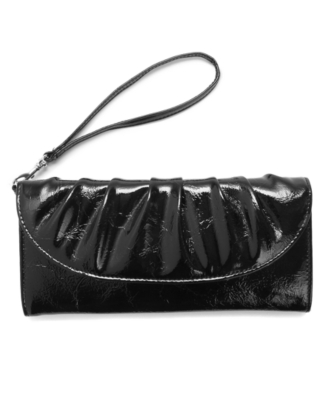 Style&co. Handbag, Pleated Front Wristlet - Leather Wristlet