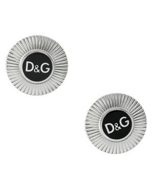 D&G Earrings, Stainless Steel Logo Circle