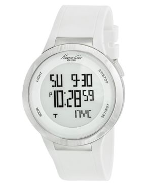 Kenneth Cole New York Watch, Touchscreen White Silicone Strap KC1666 - Watches