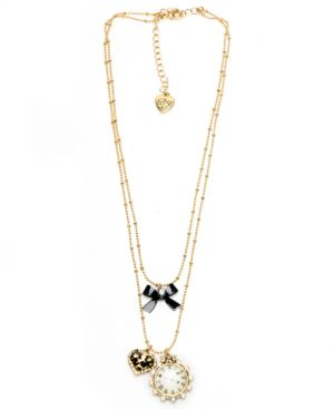 Betsey Johnson Necklace, Love Time