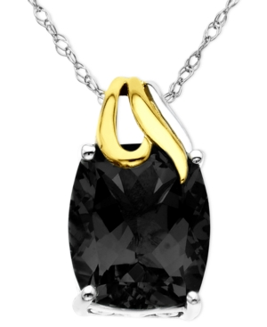 14k Gold and Sterling Silver Pendant, Onyx Overlay