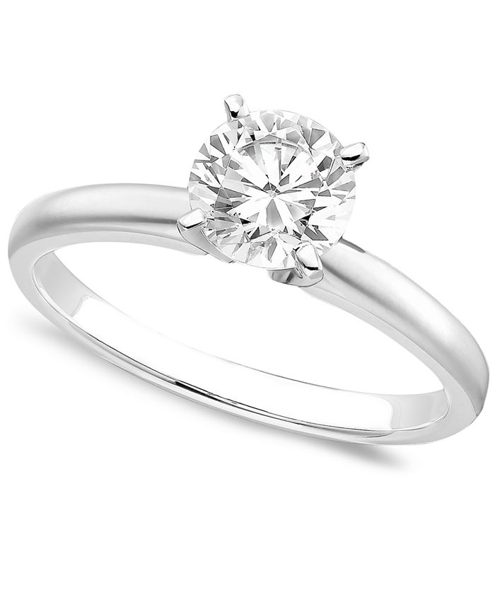 Macy's - 18k White Gold Certified Colorless Diamond Engagement Ring (1 ct. t.w.)