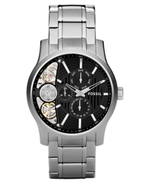 Fossil Watch, Men's Twist Stainless Steel Bracelet 42mm ME1097