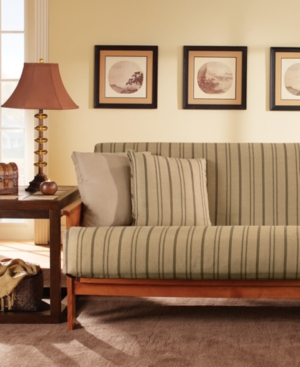 Sure Fit Slipcovers, Colton Stripe Futon Cover Bedding