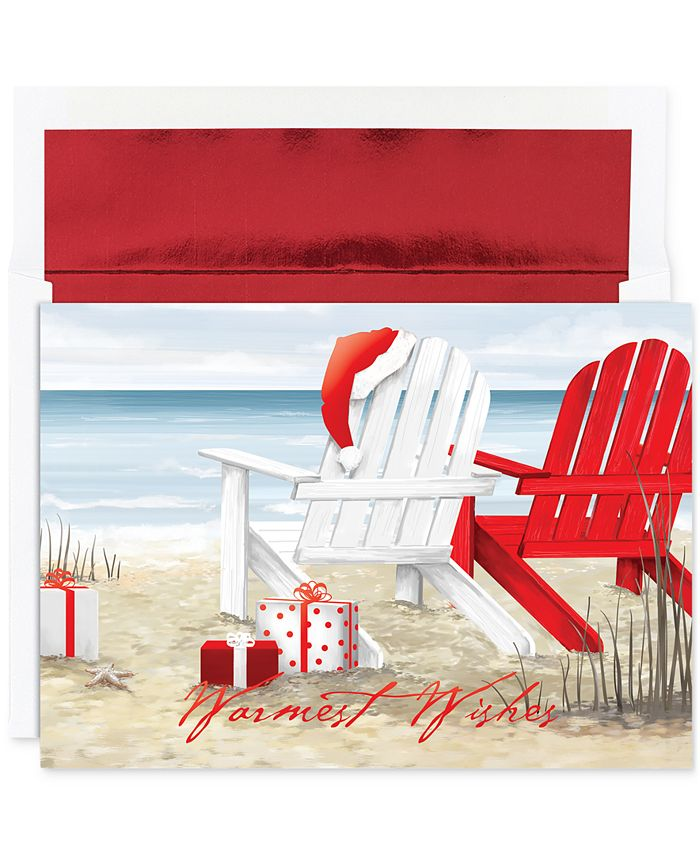 Masterpiece Studios - Beach Chairs Greeting Cards with Envelopes, Set of 18