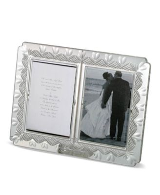 "Waterford Gifts, Wedding Announcement Double Frame, 4"" x 6"""