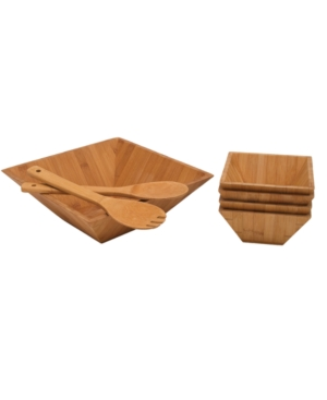 Lipper International Serveware, Bamboo 7 Piece Salad Bowl Set