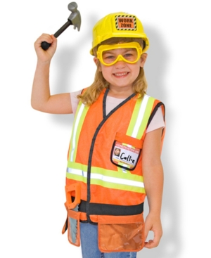 Halloween Costumes | Halloween Melissa & Doug Kids Costume, Construction Worker Dress Up Set