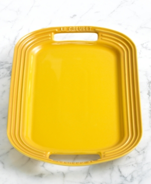 "Le Creuset Enameled Stoneware Serving Platter, 16.5"""