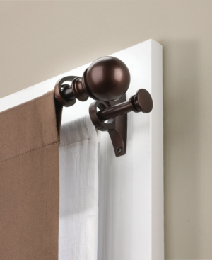 "Umbra Window Hardware Diverge 88-120"" Double Curtain Rod Bedding"