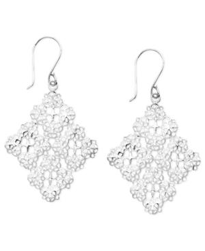 Unwritten Sterling Silver Earrings, Filigree Drops