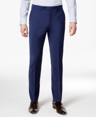 Men's Skinny Fit Stretch Wrinkle-Resistant Wool Suit Pants, Created for Macy's