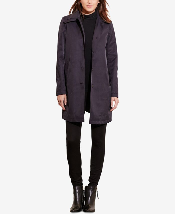 Lauren Ralph Lauren - Petite Single-Breasted A-Line Trench Coat