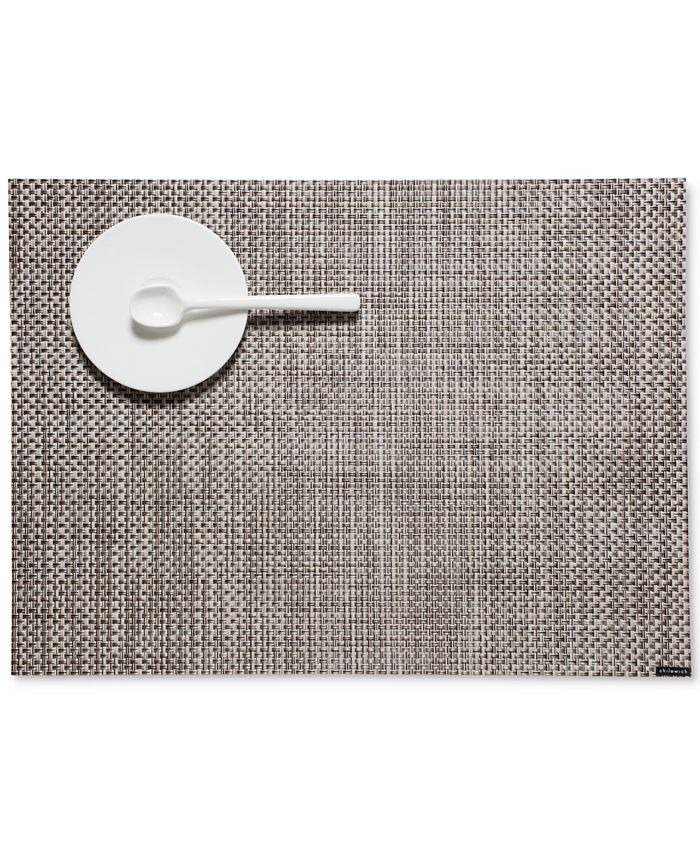 Chilewich 14 X 19 Basketweave Woven Vinyl Placemat Reviews Table Linens Dining Macy S
