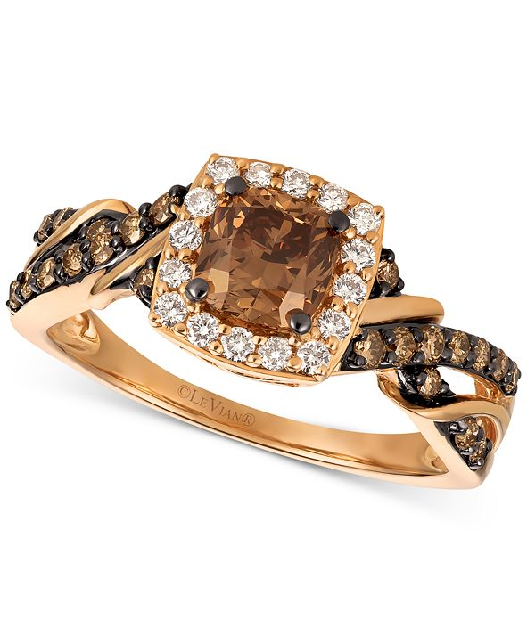 Le Vian Chocolatier® Diamond Ring (1-1/6 ct. t.w.) in 14k Rose Gold