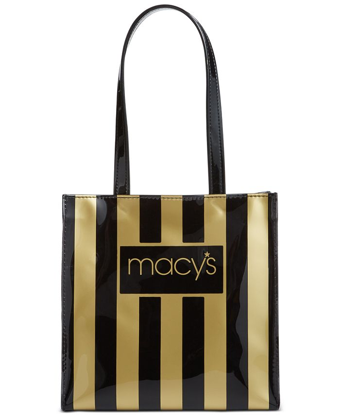 Dani Accessories - Black & Gold Macy's Tote