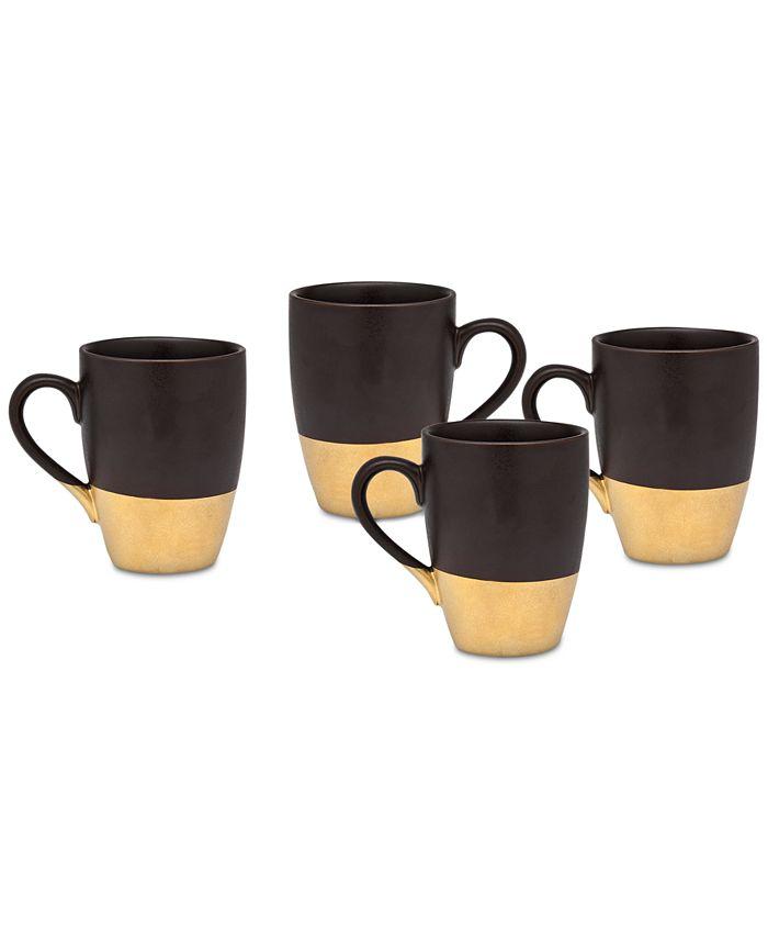 Godinger - Golden Onyx 4-Pc. Mug Set