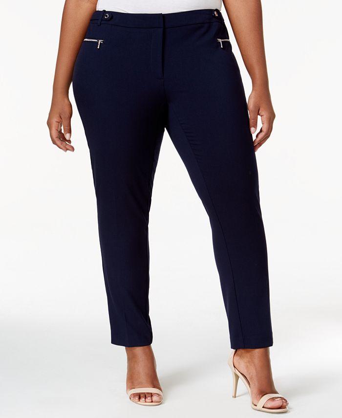 Calvin Klein - Plus Size Straight-Leg Ankle Pants