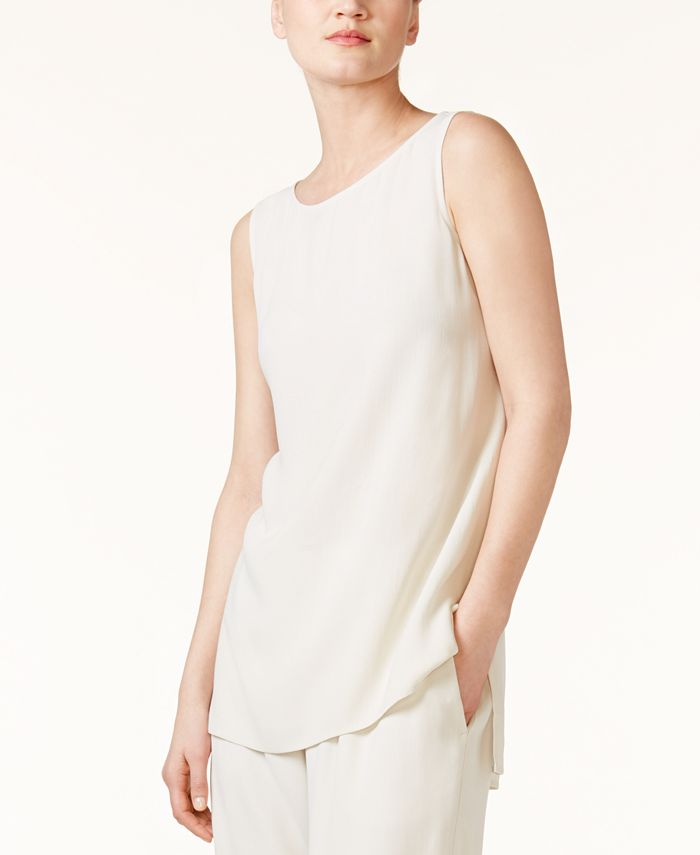 Eileen Fisher - High-Low Silk Shell