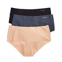 3-Pack Calvin Klein Womens Invisibles Hipster Underwear Deals