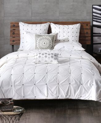 Masie Embroidered Ruched Full/Queen Comforter Mini Set