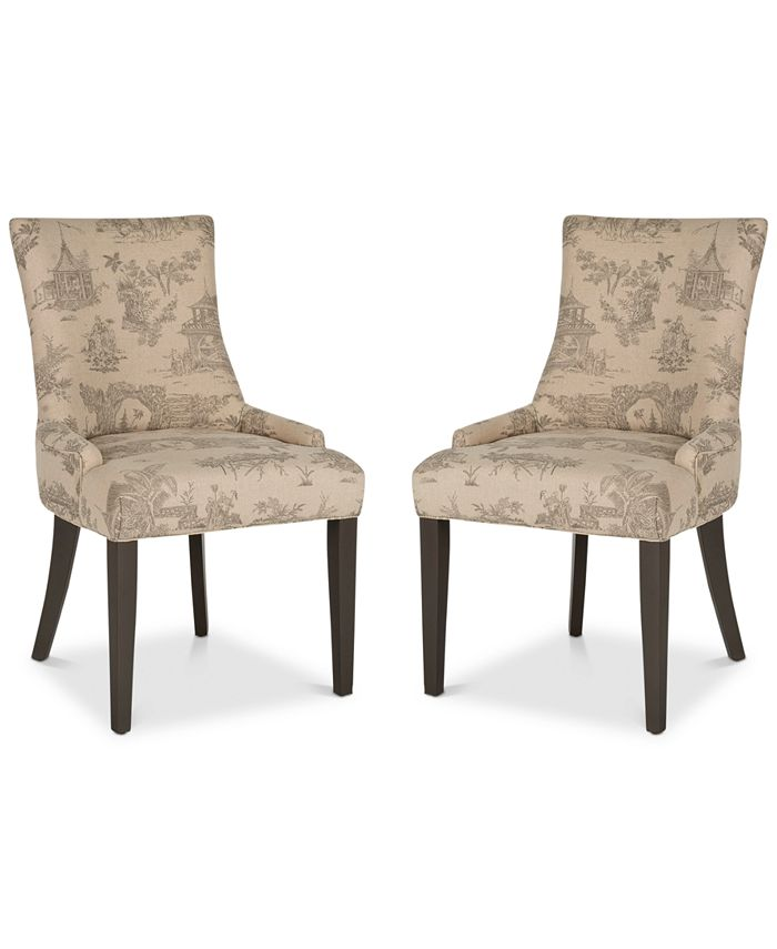 Safavieh - Aneva Set of 2 Dining Chairs, Quick Ship