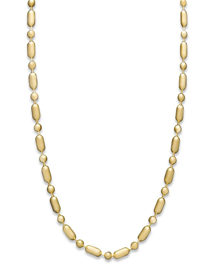 "Macy's - 14k Gold Necklace, 20"" Dot Dash Chain"