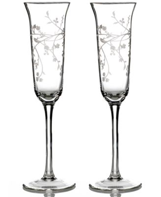 CLOSEOUT! Martha Stewart Collection Toasting Flutes, Set of 2 Trousseau