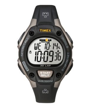 Timex Watch, Women's Digital Ironman 30 Lap Black Resin Strap 34mm T5E961UM