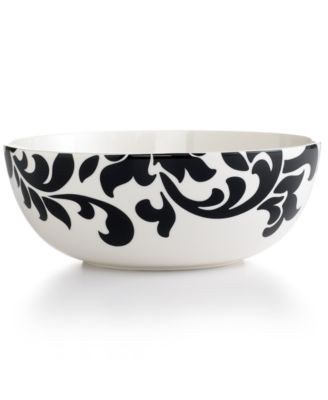 Martha Stewart Collection Lisbon Black Vegetable Bowl