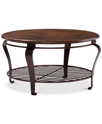 Bernhardt Clark Copper Round Coffee Table Reviews Furniture Macy S