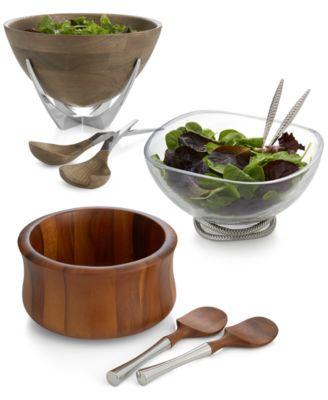 Nambe Yaro Set of 4 Individual Salad Bowls